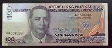 "100 pesos banknote Philippines 2005 ""Arrovo"" Serial#AK504806"
