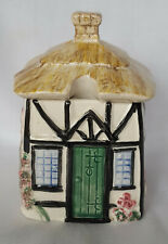 VINTAGE SYLVAC THATCHED COTTAGE JAM OR PRESERVE POT 5675 IN EXCELLENT CONDITION