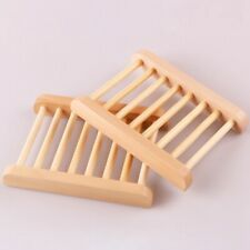 Natural Bamboo Soap Holder Dish Bathroom Shower Plate Stand Storage Tray