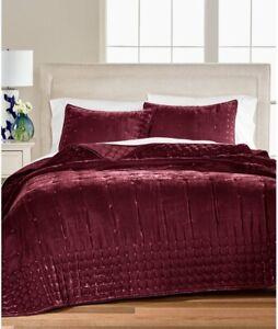 Martha Stewart Velvet Quilted Comforter TWIN Tufted Luxe Bedding