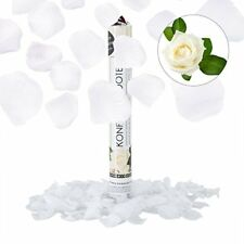 Relaxdays Cañón de confeti Poliéster blanco 5x40x5 cm