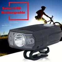 Waterproof USB-Recharge LED Bicycle Bike Front Light Headlight /& Tail Light xcv