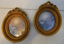 PAIR VTG 1980 HOMCO BIRD WITH NEST PICTURES WITH GOLD PLASTIC FRAMES
