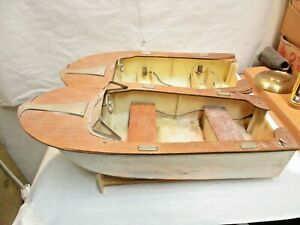 "2 vintage K&O Fleetline Dolphin 16"" Toy Boat Sold As Is - Parts or Restoration"