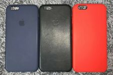 iPhone 6s Apple Silicone Cases and Leather Case Navy Blue Black (PRODUCT) Red