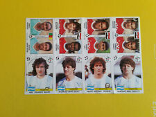 Fogli Calciatori Panini Italia 90 sheet 8 sticker Egypt Argentina New