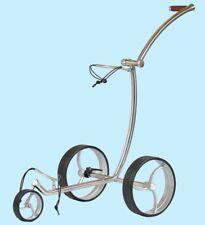 AVALON Golf Trolley *Edelstahl poliert * Räder silber *