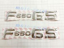 F650GS Raised 3D Chrome Silver Decal Emblem Fairing Sticker For BMW F650GS Bling