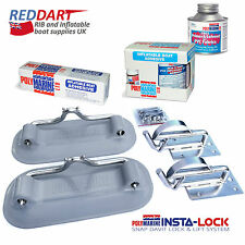 Snap Davits for Inflatable Dinghy Insta-Lock System + PVC Boat Adhesive Kit