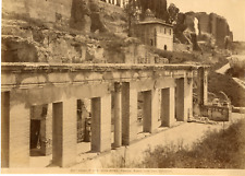 Alinari. Italie, Roma, Palatino, Avanzi della Casa Geloziana  Vintage albumen pr