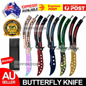 Balisong Butterfly Knife Trainer Training Practice Metal Steel Tool Sheath NEW