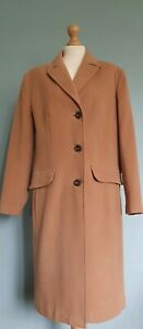 Barbara Lebek Wool/Cashmere Camel OverCoat With Pockets SIze 18