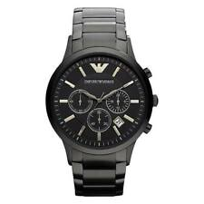 NEW EMPORIO ARMANI AR2453 GENUINE MENS WATCH BLACK STAINLESS STEEL UK SELLER