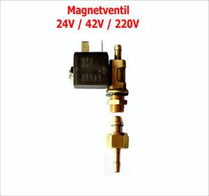 Gas Magnetventil für MIG/Mag WIG/TIG Schweissmaschinen 24V AC / 42V AC / 220V A