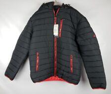Spire By Galaxy Men's Ultra-Light Peak Puffer Jacket Hooded X-Large Black