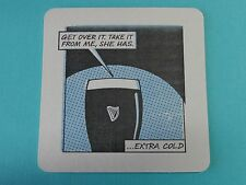 Beer Coaster ~*~ GUINNESS Brewing Cold Stout ~ I Hate Weddings ~ Dublin, IRELAND