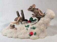 Charming Tails Hot Doggin Mice Figurine Snow Skiing D Griff Fitz Floyd Silvestri