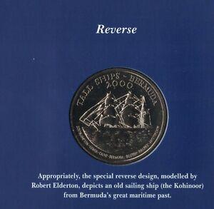 BERMUDA RARE 1$ BU COIN 2000 YEAR KM#117 TALL SHIP MINT PACK