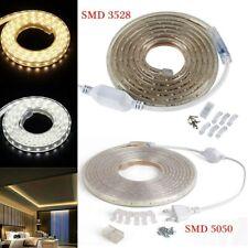 230V 3528 5050 LED Strip Flexibel Hell Lichtleiste Licht Streifen Dekor EU Plug