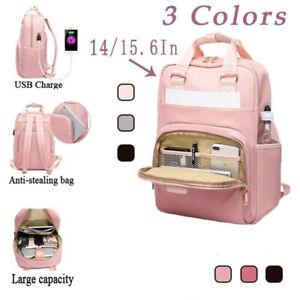 Anti Theft Backpack Waterproof Bag School Travel Laptop Bags USB Charging Port