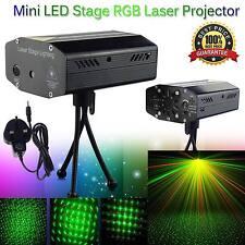 LED Stage Lighting Mini R&G Laser Projector Disco Party Club DJ Light UK Stock