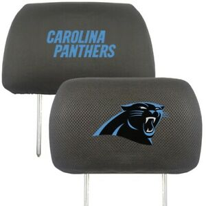 Fanmats NFL Carolina Panthers 2-Piece Embroidered Headrest Covers Del. 2-4 Days