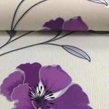 BELGRAVIA ANASTASIA FLOWER POPPY PATTERN FLORAL MOTIF GLITTER WALLPAPER 201