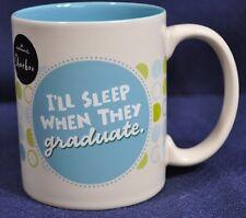 Hallmark Shoe Box Mug I'll Sleep When They Graduate Mug Homeschool Mom Dad New
