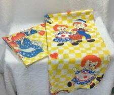 Raggedy Ann And Andy Top Sheet And Pillow Cases Vintage Bobbs-Merrill Company