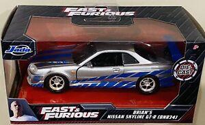 Jada Fast & Furious Brian's Nissan Skyline GT-R (BNR34) 1/32 die cast Car