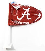 Wincraft Alabama Crimson Tide Football National Champions 2-Sided Car Flag NWT