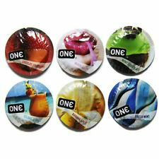 24 PCS ONE Flavor Waves Assorted Flavored Bulk Condoms  - Choose Style
