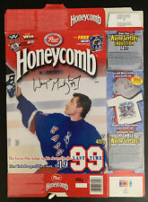 WAYNE GRETZKY STAMPED ON SIGNATURE  NEW YORK RANGERS #99 CEREAL BOX HONEYCOMB