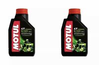 2 Bottles Motul 5100 4T 15W50 Motorcycle Oil 1 Liter 104080