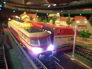 JOUEF - Train électrique - AUTORAIL PANORAMIQUE avec lumière Ho