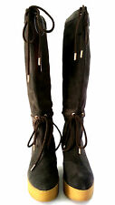 ROCKPORT - CEDRA SCRUNCHED TALL BOOT - BROWN - SIZE 6 - 20,000+ FEEDBACK! SH105