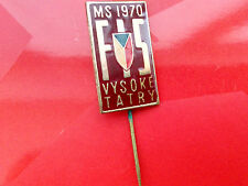 FIS World championships 1970 CSSR large badge ski race downhill GS Tatry Mount.