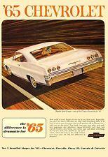 1965 CHEVROLET IMPALA POSTER 24 x 36 INCH | AD |