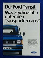 Ford Transit - Pressespiegel - Prospekt Brochure 08.1984