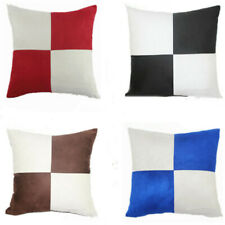 """Sofa Linen Square Case 18"""" Throw Pillow Vintage Cover Plaid Cushion Protector"""
