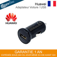 CHARGEUR ADAPTATEUR VOITURE ALLUME CIGARE USB HUAWEI HWCC02 ORIGINAL