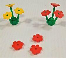 Lego Flowers 2 Pc Plant Stem Bouquet Lot Bundle Red Green Yellow
