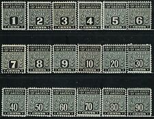 #PN1-18 1945 1c TO 90c  POSTAL NOTE ISSUES MINT-OG/H
