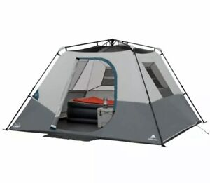 Ozark Trail 6-Person Instant Cabin Tent LED Lights Family Camping Outdoors NEW