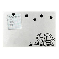 Magnetpinnwand Wandtafel Schildkröte Smile ! Süß Turtle Edelstahl magnetisch