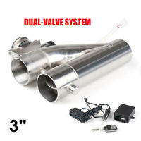 3 inch 76mm Exhaust Control E-cut Out Dual Valve Electric Y Pipe with Remote Kit