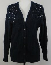 Lane Bryant Teal Button-Up Sparkle Sweater Size 14/16