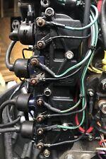 Set 4 bobine accensione & porta per MERCURY MARINER 100HP 115HP FUORIBORDO 2 tempi