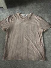 TOPMAN  brown beige tie dye effect T shirt XXL
