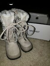 Nine West Toddler Baby Girl Fur Boots Size 5